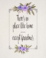 There's No Place Like Home Except Grandma's Purple Flowers Fine-Art Print