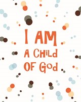 I Am A Child Of God Radial Dots Orange Fine-Art Print
