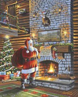 Christmas Eve With Santa Fine-Art Print