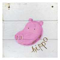 Happy Pink Hippo Fine-Art Print