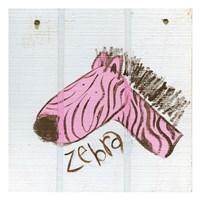 Happy Pink Zebra Fine-Art Print