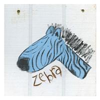 Happy Blue Zebra Fine-Art Print