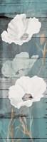 Sea Foam Florals Wood Mate Fine-Art Print