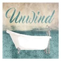 Unwind Bath Teal Fine-Art Print