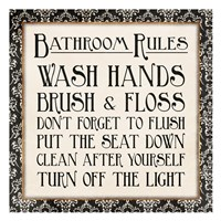 Black Gold Bath Rules Fine-Art Print