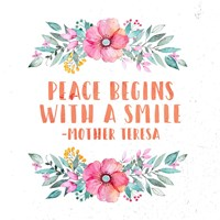 Peace Begins With a Smile-Floral Fine-Art Print