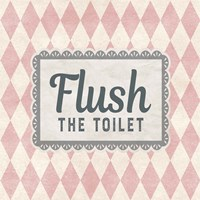 Flush The Toilet Pink Pattern Fine-Art Print