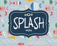 Splish and Splash Fish Pattern Blue Part II Fine-Art Print