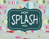 Splish and Splash Fish Pattern Green Part II Fine-Art Print