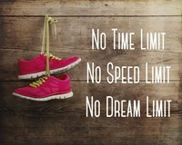 No Time Limit No Speed Limit No Dream Limit Pink Shoes Fine-Art Print