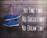 No Time Limit No Speed Limit No Dream Limit Blue Shoes Fine-Art Print