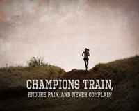 Champions Train Woman Color Fine-Art Print