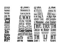 Names of Jesus I AM Silhouette White Fine-Art Print