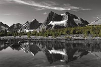 Amethyst Lake Reflection BW with Color Fine-Art Print