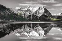 Kananaskis Lake Reflection BW with Color Fine-Art Print