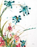 Blooming Blue Crop on White Fine-Art Print