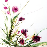 Flowers in the Wind on White Fine-Art Print