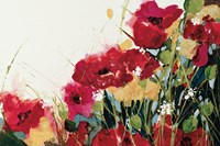 Poppies and Flowers on White Fine-Art Print