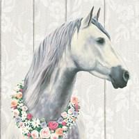 Spirit Stallion I on wood Square Fine-Art Print