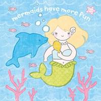 Magical Mermaid IV Framed Print