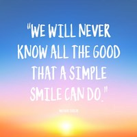 Simple Smile - Mother Teresa Quote (Dawn) Fine-Art Print