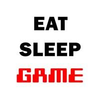 Eat Sleep Game - White Fine-Art Print