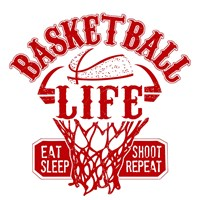 Basketball Life Red Fine-Art Print