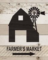 Farm Market Framed Print