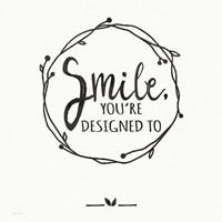 Smile - White Fine-Art Print