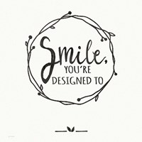 Smile - White Fine-Art Print