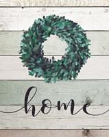 Home Wreath II Framed Print