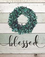 Blessed Wreath II Framed Print
