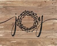 Joy Rustic Wreath Fine-Art Print
