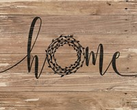Home Rustic Wreath Fine-Art Print