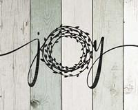 Joy Rustic Wreath II Fine-Art Print
