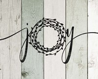 Joy Rustic Wreath II Framed Print