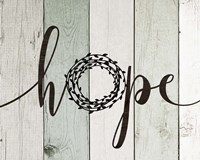 Hope Rustic Wreath II Fine-Art Print