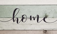 Home (Teal & White Sign) Fine-Art Print