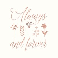 Always and Forever Floral Fine-Art Print