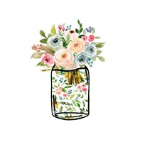 Mason Jar Bouquet Fine-Art Print