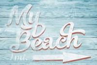 My Beach Framed Print