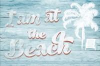 I Am at the Beach Framed Print