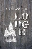 I Am at the Lodge Framed Print