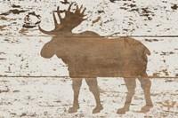 Moose in Reverse Framed Print