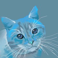 Cat in Blue Fine-Art Print