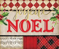 Joyeux Noel Plaid Fine-Art Print