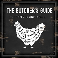 Butcher's Guide Chicken Framed Print