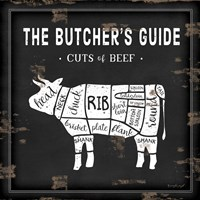 Butcher's Guide Cow Fine-Art Print