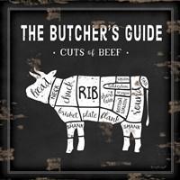 Butcher's Guide Cow Framed Print