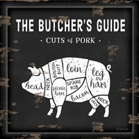 Butcher's Guide Pig Fine-Art Print